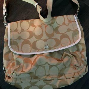 Coach cross body messenger Bag